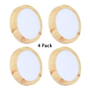 (4 Pack)12 Inch Slim Panel Light Fixture Recessed 24W Acrylic Round/Square LED Light Fixture Recessed for Hotel Home