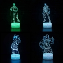 Movie Character Pattern 3D Illusion Lamp Bedroom Decorative Touch Sensor 7 Color Changing LED Night Light