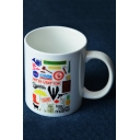 New Fashion Pattern White Porcelain Mug Cup