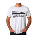 Summer Creative Bullet Got Ammo Loose Fit Graphic Tee