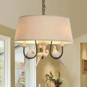 Resin Fabric Tapered Shade Chandelier 3 Lights Traditional Ceiling Light for Bedroom Hallway
