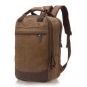 Unisex High Capacity Multi Functional Plain Canvas Portable Travel Backpack Laptop Backpack 40*15*25 CM