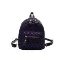 Chic Rhombic Sequined Mini Shoulder Bag Backpack 29*11*20 CM