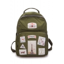 Cool Graphic Pattern Oxford Cloth Casual Satchel Backpack 25*12*32 CM