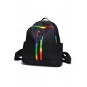 Popular Colorful Stripe Printed Zipper Shoulder Bag Backpack 29*13*32 CM