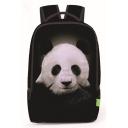 Fashion Creative 3D Panda Printed Black School Bag Backpack 31*13*43 CM