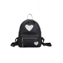 Ladies Elegant Heart Pattern Nylon Shopping Bag Casual Backpack 27*9*31 CM