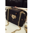Trendy Printed Square Crossbody Bag with Chain Strap for Women 22*10*15 CM