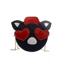 Cute Cartoon Pig Shape Circle Crossbody Shoulder Bag 18*7*18 CM