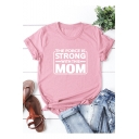 Summer Funny Letter The Force Is Strong With This Mom Basic Short Sleeve Relaxed T-Shirt