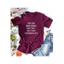 Summer Funny Letter THEY SAY GOOD TIMES TAKE TIME Short Sleeve Cotton Tee