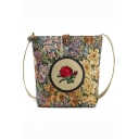 National Style Floral Embroidery Pattern Long Strap Crossbody Phone Purse 24*8*30 CM