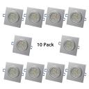 (10 Pack)5/7W Square Recessed Light Wireless Aluminum LED Light Fixture Recessed in Warm/White for Dining Room