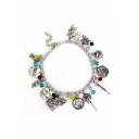Hot Fashion Animal Head Silver Combination Womens Charm Bracelet