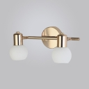 Orb Shape Living Room Wall Lamp Metal and Glass 2/3 Lights European Style Sconce Wall Light