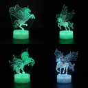 7 Color Changing Unicorn 3D Illusion Light Touch Sensor Remote Control LED Night Lamp for Gift Boys Girls