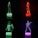 Movie Character Pattern 3D Night Lamp Boy Girl Bedroom 7 Color Changing Touch Sensor Visual Nightlight with Remote Controller