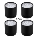 (4 Pack)Fixture/Adjustable Angle LED Spot Light 12W High Brightness Round Ceiling Light in White/Warm for Bedroom