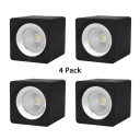 (4 Pack)Aluminum Black/White LED Spot Light Bedroom Hallway High Brightness Flush Mount Light in White/Warm White