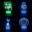 Soccer Element Pattern LED Night Light 7 Color Changing Touch Sensor 3D Illusion Lamp for Bedroom Hallway