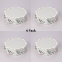 (4 Pack)Drum Shape LED Flush Mount Light Living Room Hotel Metal Acrylic Slim Panel Spot Light in White/Warm