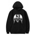 Unique Dragon Letter DRACARYS Print Unisex Relaxed Pullover Hoodie