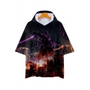 New Trendy King of the Monsters 3D Printed Unisex Hooded Casual Loose Tee