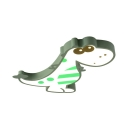 Green/Pink Dinosaur Shape Ceiling Light Warm Lighting/Stepless Dimming LED Flush Ceiling Light for Kids Room