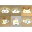 Acrylic Cute Pattern Ceiling Light Stepless Dimming Flush Mount Light for Boy Girl Room