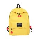Cute Letter Printed Adjustable Shoulder Strap Zipper School Bag Backpack 28*12*40 CM