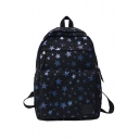 Fashion Large Capacity Fashion Star Pattern School Backpack 28*13*42 CM