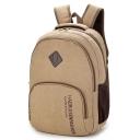 Trendy Retro Letter Printed Canvas Traveling Backpack School Bag 31*14*44 CM