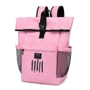 New Fashion Printed Large Capacity School Bag Laptop Backpack with Side Mesh Pockets 32*18*49 CM