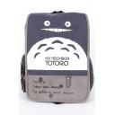 Cute Cartoon Totoro Letter Printed Large Capacity School Bag Backpack 41*9*29 CM