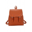 Preppy Style Fashion Polka Dot Printed PU Leather School Bag Backpack 26*11*29 CM