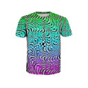 Summer Cool Whirlpool Letter FUN Printed Basic Short Sleeve T-Shirt