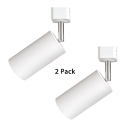 (2 Pack)Rotatable Cylinder LED Track Lighting Display Window 1 Head Ceiling Light in White/Warm White