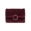 Women's Elegant Solid Color Velvet Square Crossbody Bag 17.5*6.5*11 CM