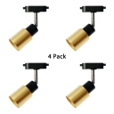(4 Pack)Rotatable Gold LED Ceiling Light 1 Head Simple Style Aluminum Spot Light in White/Warm for Bedroom'