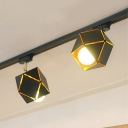 Creative High Brightness Track Light Metal 2/3 Lights Black Rotatable Spot Light for Kitchen