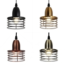 Kitchen Restaurant Wire Frame Ceiling Light Metal 1 Light Industrial Height Adjustable Cord