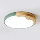 Round LED Flush Mount Light Simple Style Acrylic Ceiling Light in Warm/White for Bedroom