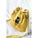 Fashion Letter Patchwork Canvas Shoulder Messenger Bag