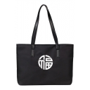 New Fashion Chinese Letter Printed Canvas Shoulder Tote Bag 39*10*27 CM