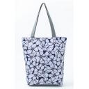 Popular Floral Printed White Shoulder Bag for Women 27*11*38 CM