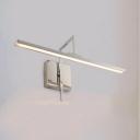Aluminum Linear LED Sconce Light Bathroom 16/19.5/23.5 Inch Rotatable Vanity Light in Chrome