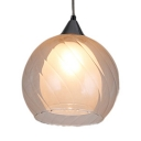 Globe Shade Pendant Light 1 Light Contemporary Swirl Glass Suspension Light for Hotel