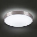 Modern Dome Shade Ceiling Light Aluminum Rustproof LED Flush Light with White Lighting for Hallway