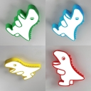 Child Bedroom Dinosaur Flush Mount Light Acrylic Cartoon Ceiling Lamp in Warm/White