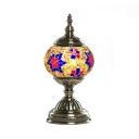 Stained Glass Globe Table Light 1 Light Turkish Rust-Proof Desk Lamp for Study Room